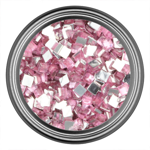 Pink Light Square Rhinestone