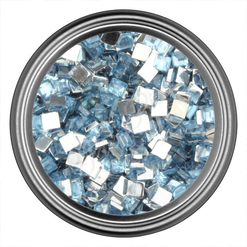 Blue Light Square Rhinestone