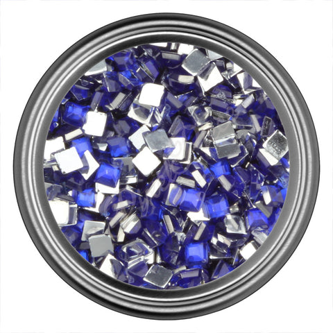 Blue Dark Square Rhinestone