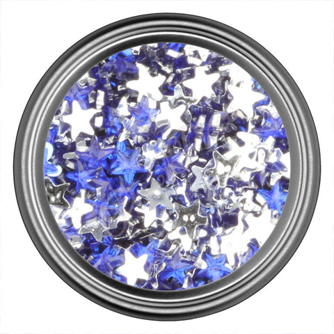 Blue Dark Star Rhinestone