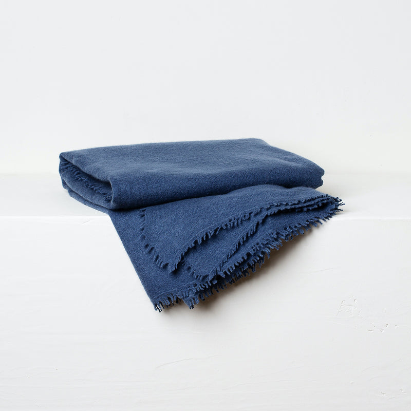 Brocade Stripe-Petrol Cushion and Cashmere Throw Set