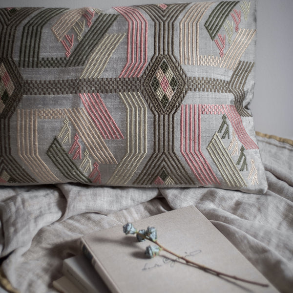 Climbing Monkey Cushion and Cashmere Throw Set