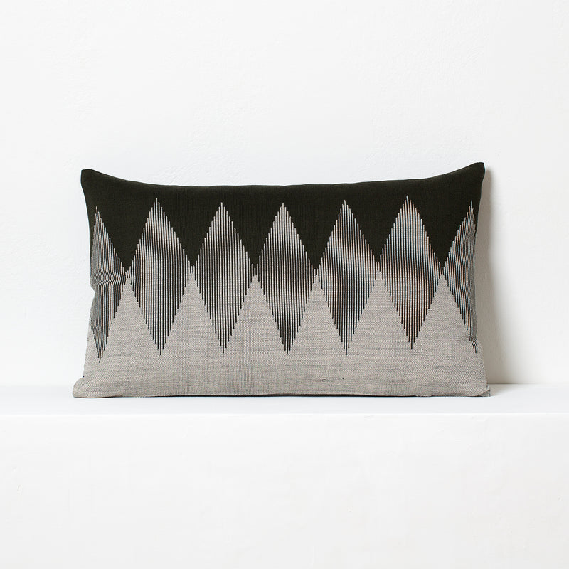 Pech Cushion- <br>Capulet Olive/Natural White
