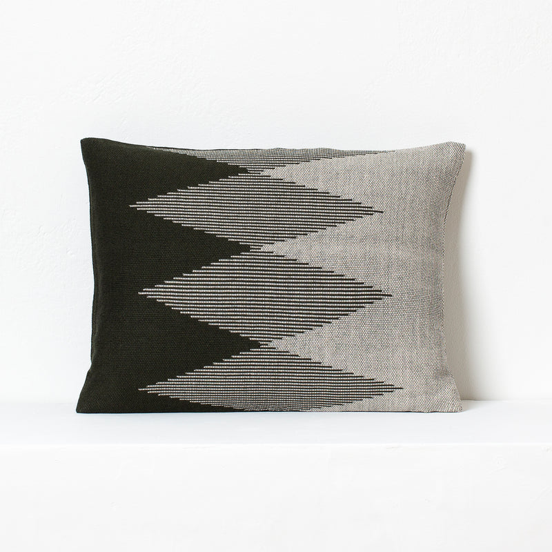 Pech Small Cushion-<br> Capulet Olive/Natural White