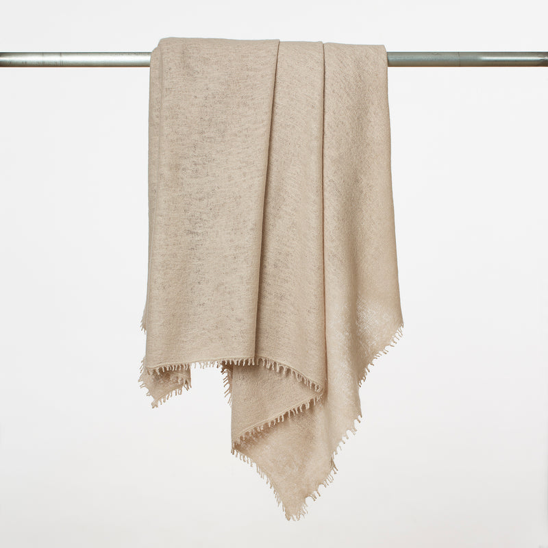 Cashmere Throw- Chalk