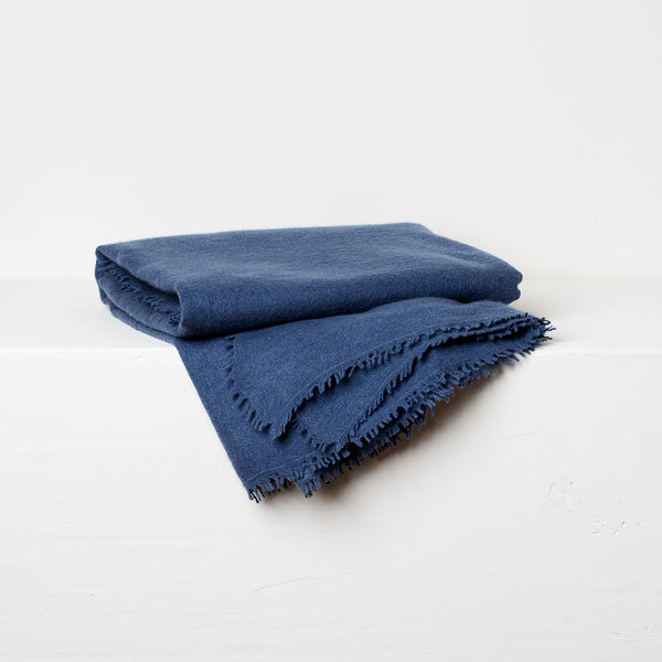 Cashmere Throw- Denim Blue