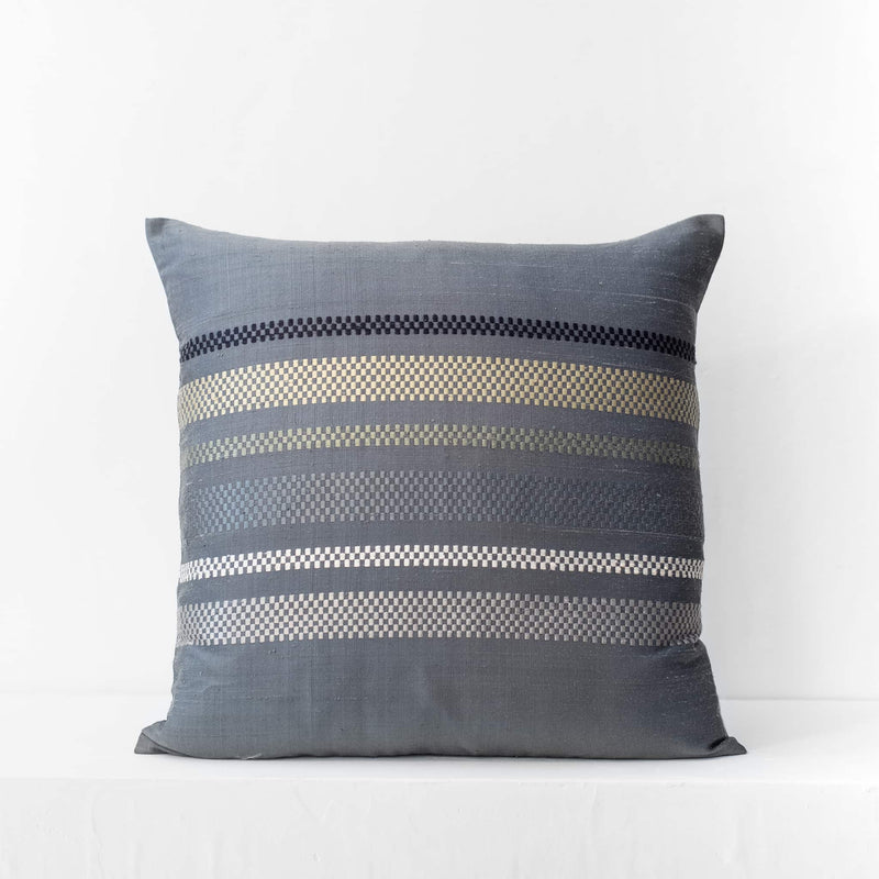 Brocade Stripe Cushion – Midnight
