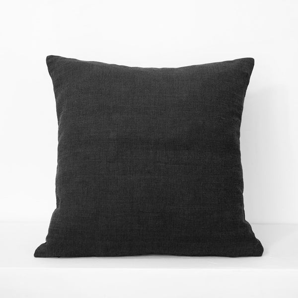 Large PomPom Cushion – Black
