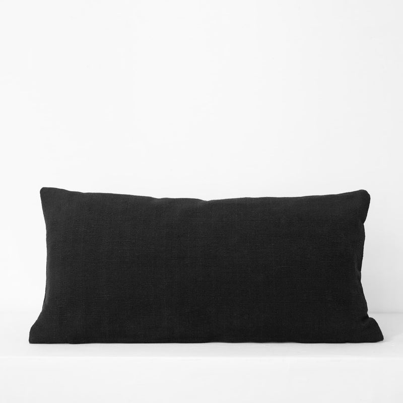 Small PomPom Cushion – Black