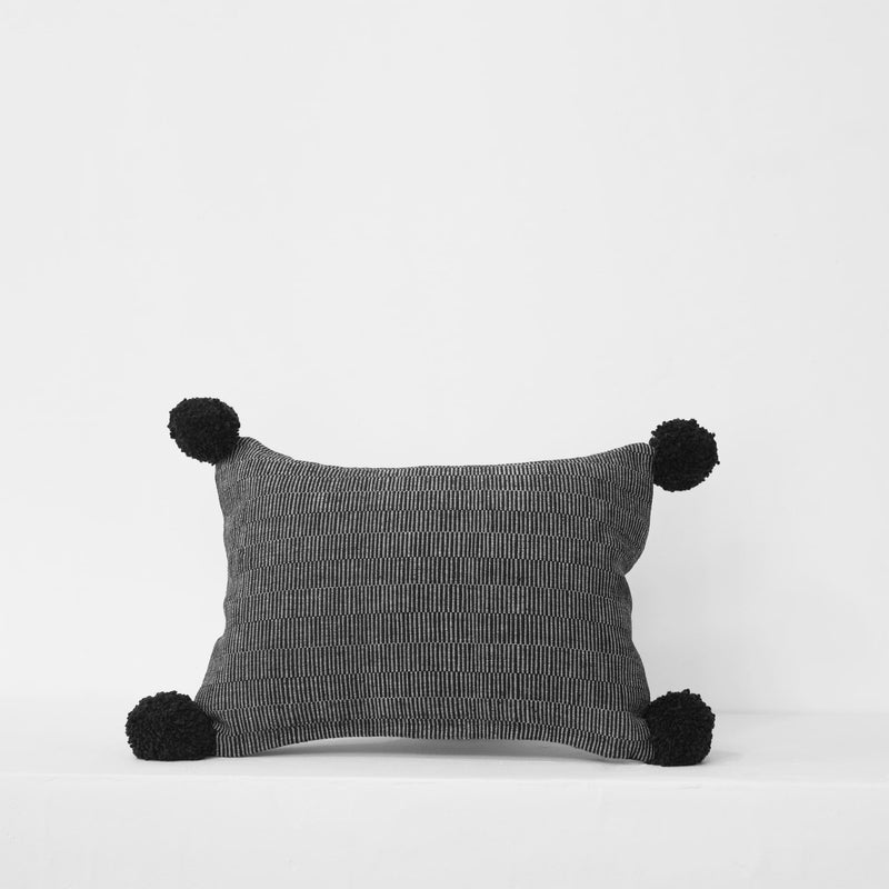 Small Rips Cushion – Black