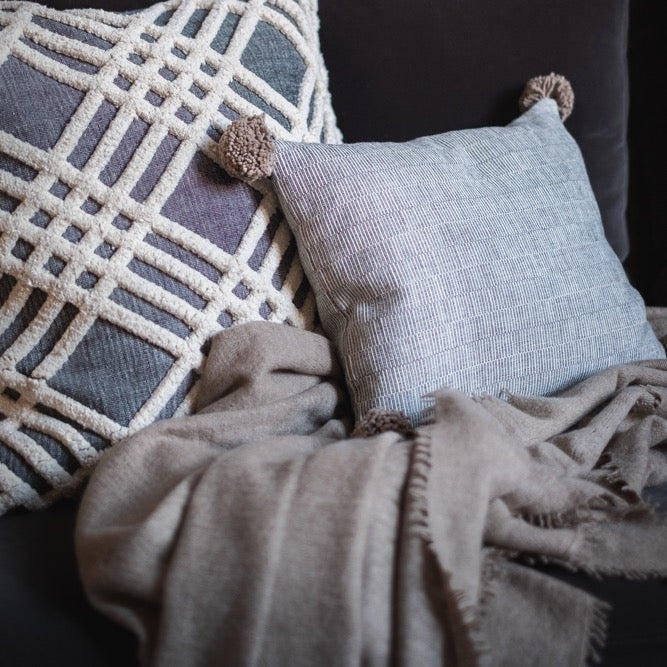 Rips, Chenille Cushions and Cashmere Throw Set