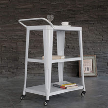 Load image into Gallery viewer, Harold Industrial Metal Serving Cart
