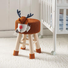 Load image into Gallery viewer, Stool-Deer Animal Stool / Ottoman