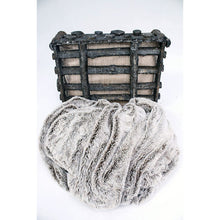 Load image into Gallery viewer, Faux Grey Fur With Brown Highlights With Fleece Back Throw Blanket