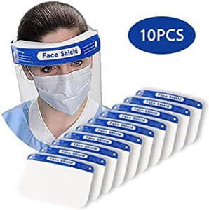 Face Shield with Elastic Band (10 PCS)