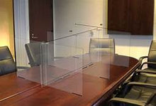 Load image into Gallery viewer, PORTABLE DIVIDER WALL | SNEEZE GUARD OFFICE TABLE DIVIDERS