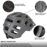 Adult Mountain Bike Helmet Universal Size Grey