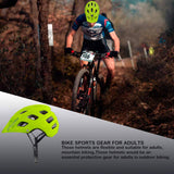 Adult Mountain Bike Helmet Universal Size HiVis