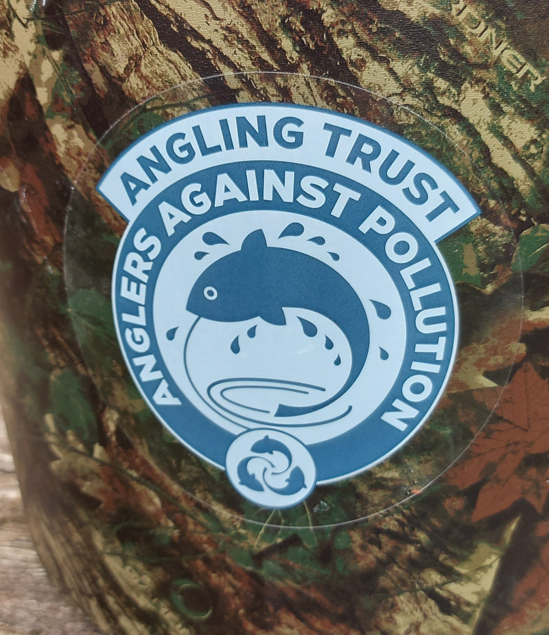 Anglers Against Pollution Enamel Badge, Car and Tackle Box Stickers