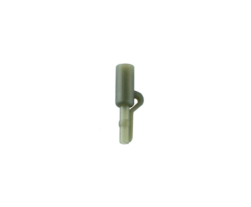 Aptus Safety Leader Lead Clip. Translucent Camo Green, extra safe, easy release, single groove.