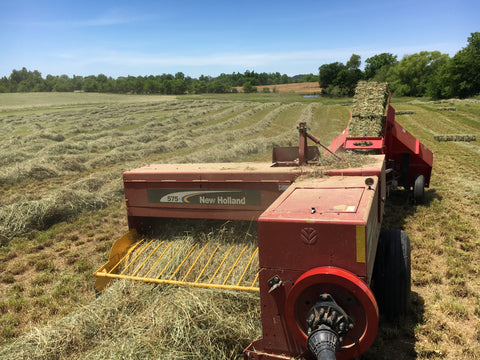 Our beloved awesome New Holland 575 Square baler