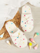 Bow Decor Polka Dot Fluffy Slippers