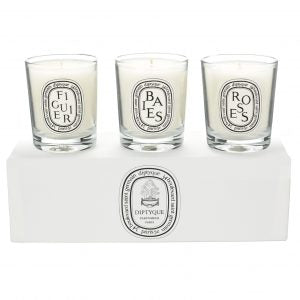 3 Candle Set - Baies, Figuier, Roses by Diptyque