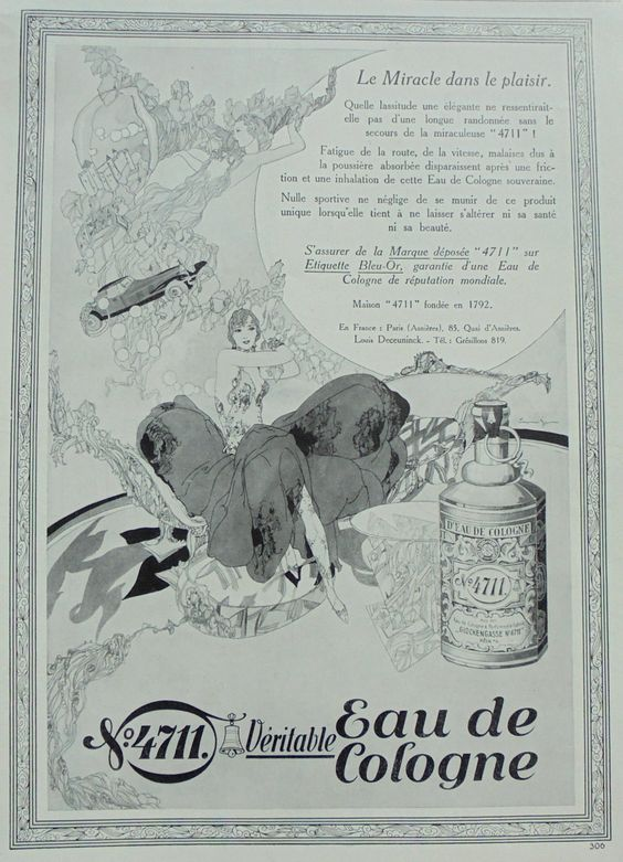 An advertisement for 4711 by Lutz Ehrenberger from the early 20th century