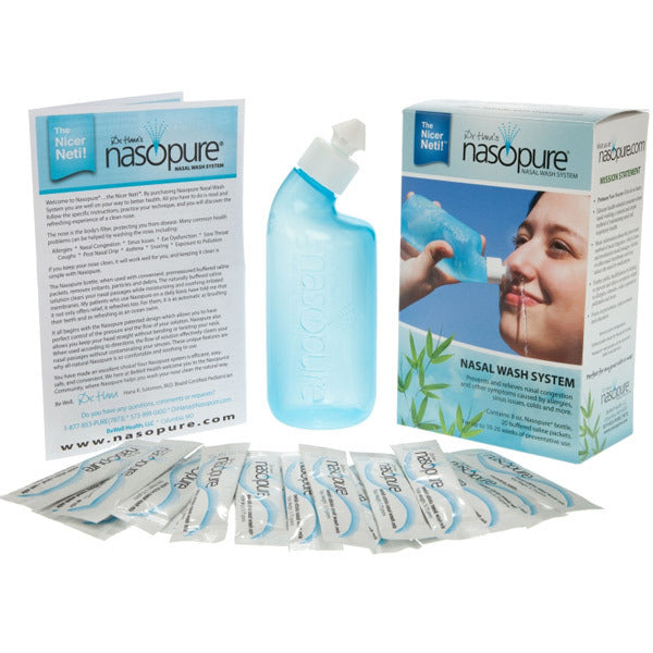 Nasopure Nasal Irrigation Set Natural Allergy Allergies Relief Spring