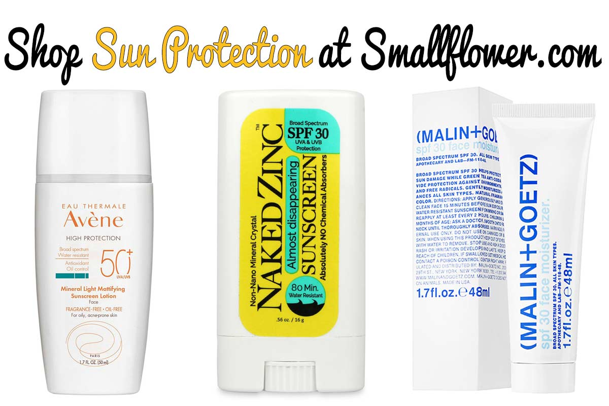 Shop Sunscreen and Sun protection at smallflower.com