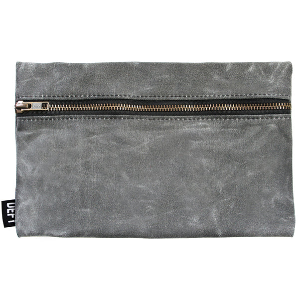 A gray matte canvas bag from Defy Bags Chicago