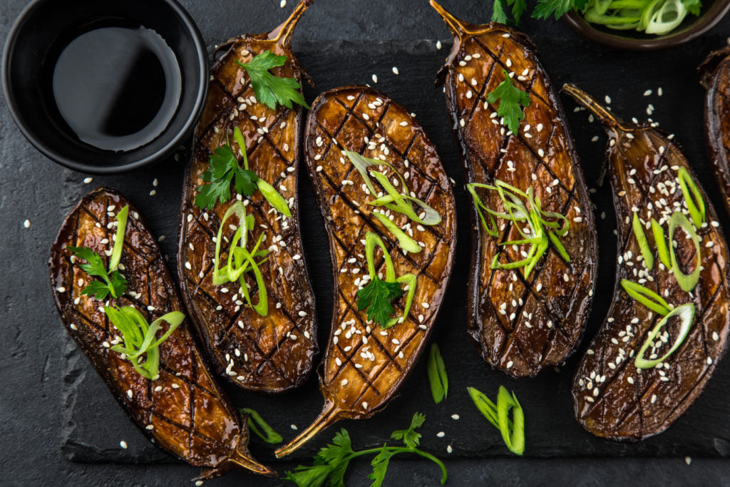 Summer Recipes | Thai Garlic Grilled Eggplant