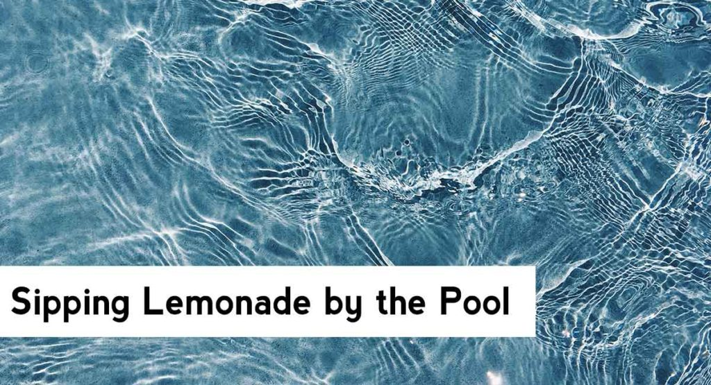 Niche Fragrance for Summer | Drinking lemonade by the pool