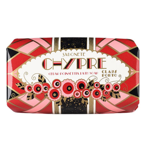 Claus Porto Chypre Cedar Poinsettia Bar Soap