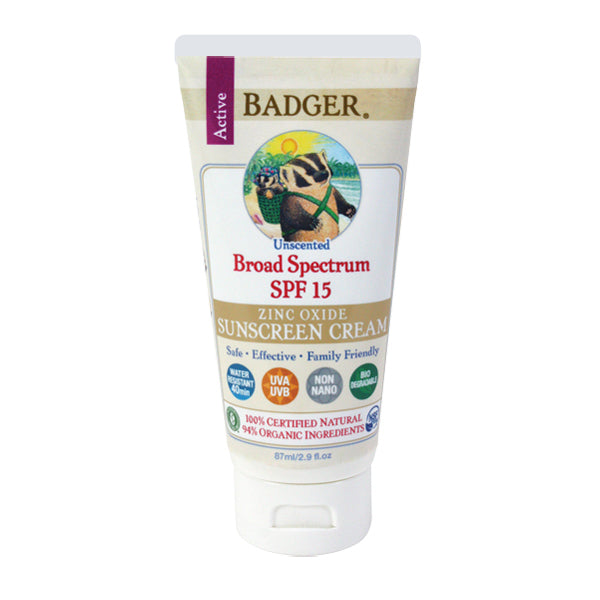 Primary image of SPF15 Unscented Sunscreen Cream - Organic