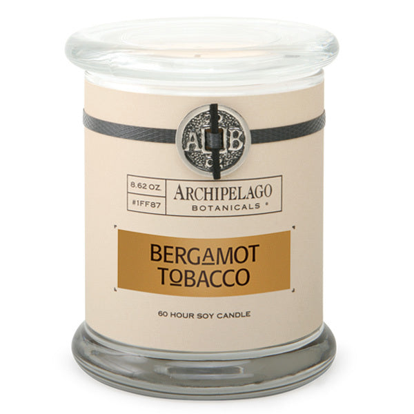 Primary image of Bergamot Tobacco Glass Jar Candle