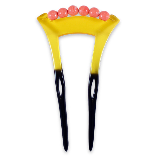 Primary image of Nene Kanzashi Hair Stick - Black + Yelow