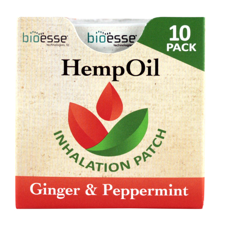 Primary image of Ginger + Peppermint Hemp Inhalation Patches - 10 pack