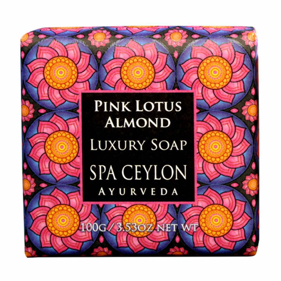 Primary image of Small Pink Lotus Almond Luxury Soap