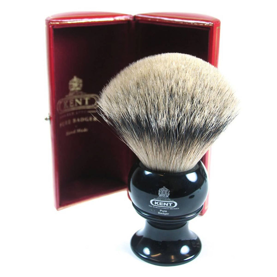 Primary image of Black King Size Silver Tip Badger Shave Brush - BLK12