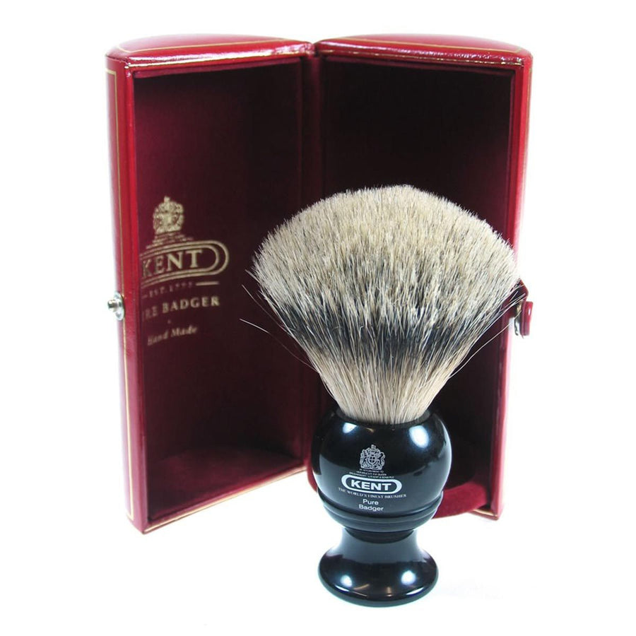Primary image of Black Traditional Travel Silver Tip Badger Shave Brush - BLK4
