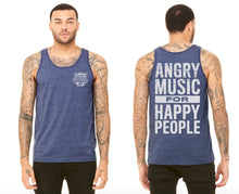 Load image into Gallery viewer, Angry Music Blue Tank Top