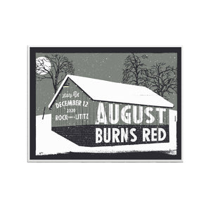 Christmas Burns Red Limited Edition Screen Printed Poster