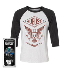 Load image into Gallery viewer, Guardians Eagle 3/4 Sleeve Shirt w/Christmas Burns Red 2020 Ticket