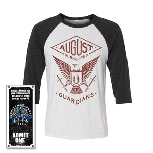 Guardians Eagle 3/4 Sleeve Shirt w/Christmas Burns Red 2020 Ticket