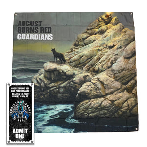 Guardians Wall Flag w/Christmas Burns Red 2020 Ticket