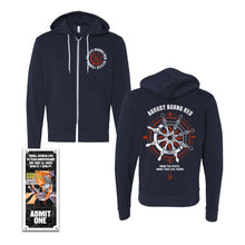 Load image into Gallery viewer, Ship Wheel Zip-Up Hoodie w/ Thrill Seeker Live Ticket