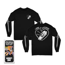 Load image into Gallery viewer, Living Is Offensive Long Sleeve Shirt w/Thrill Seeker Live Ticket
