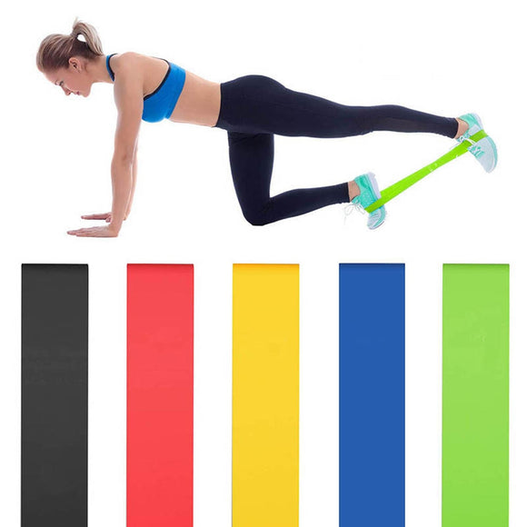5 Color Yoga Resistance Bands Workout For Hip Training Rubber Elastic Elast Band Fitness Sport Gum Gym Equipment Glute Exercise