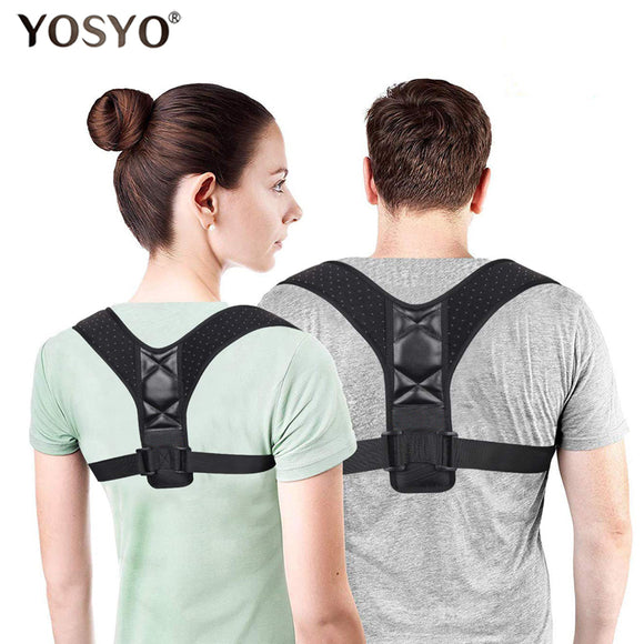 EBKSPORTS Adjustable Back Posture Corrector Spine Back Shoulder Lumbar Brace Support Belt Posture Correction Back Blet No Slouching